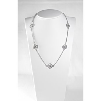 Sterling Silver & Diamond Necklace
