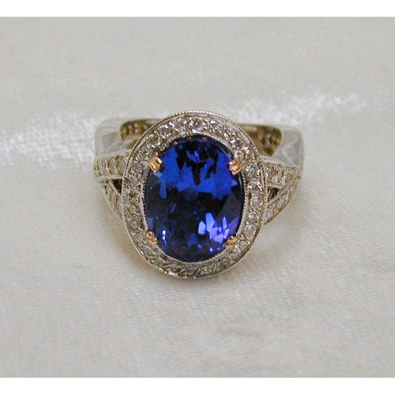 Thomas Farley Design Tanzanite and Diamond Ring