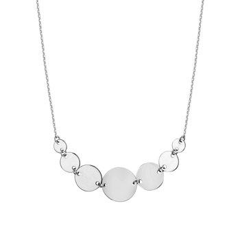 14kt White Gold Dot Necklace