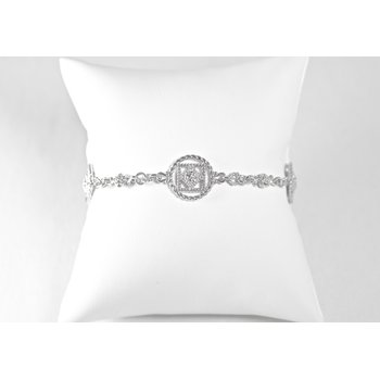 Sterling Silver & Diamond Bracelet