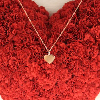 14k Rose Gold Heart Charm