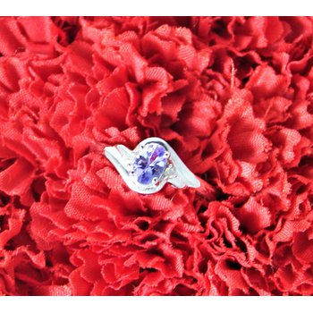 14kt White Gold Tanzanite & Diamond Ring