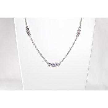 Sterling Silver & Diamond Necklace