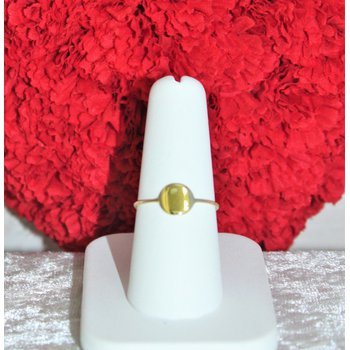 14kt Yellow Gold Disc Fashion Ring
