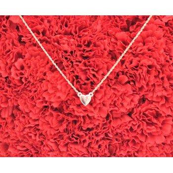 """14kt Rose Gold Heart Necklace 16"""""""