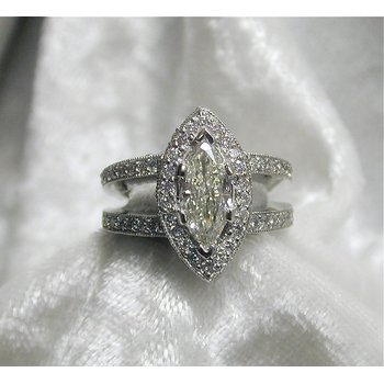 Marquise Center Engagement Ring