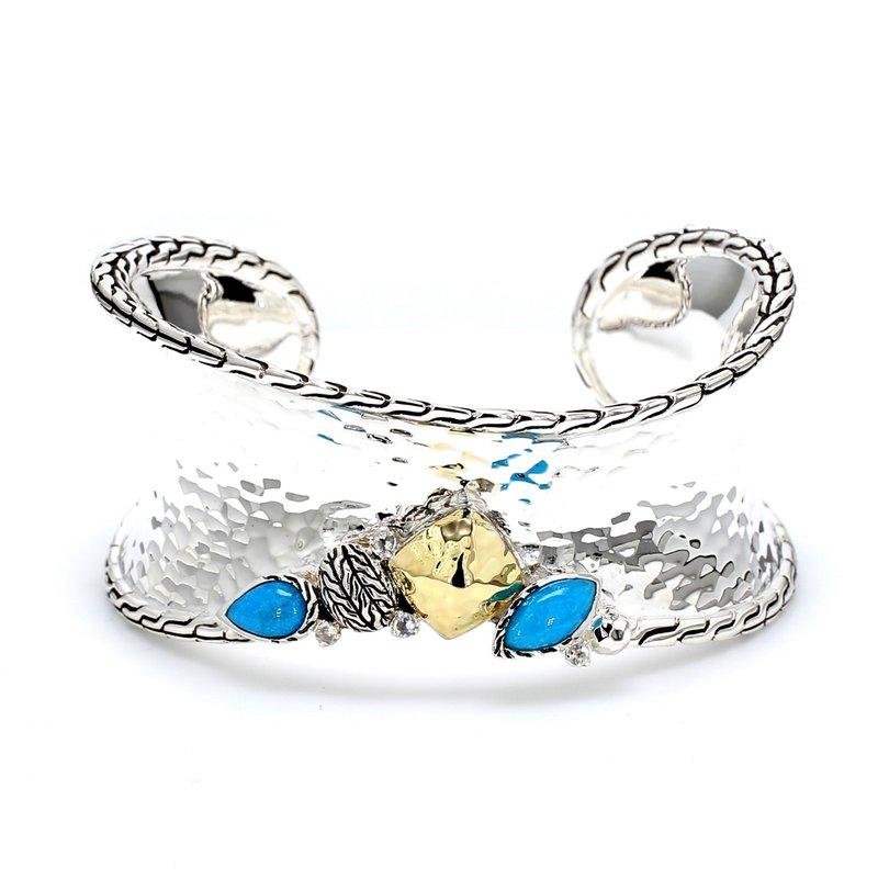 John Hardy Silver & Turquoise Bangle Bracelet