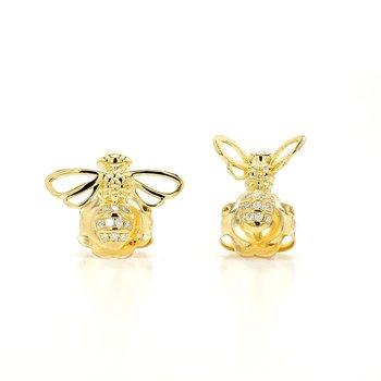 Diamond Bee Earrings