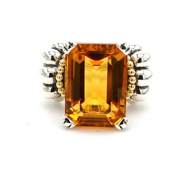 Citrine Caviar Ring