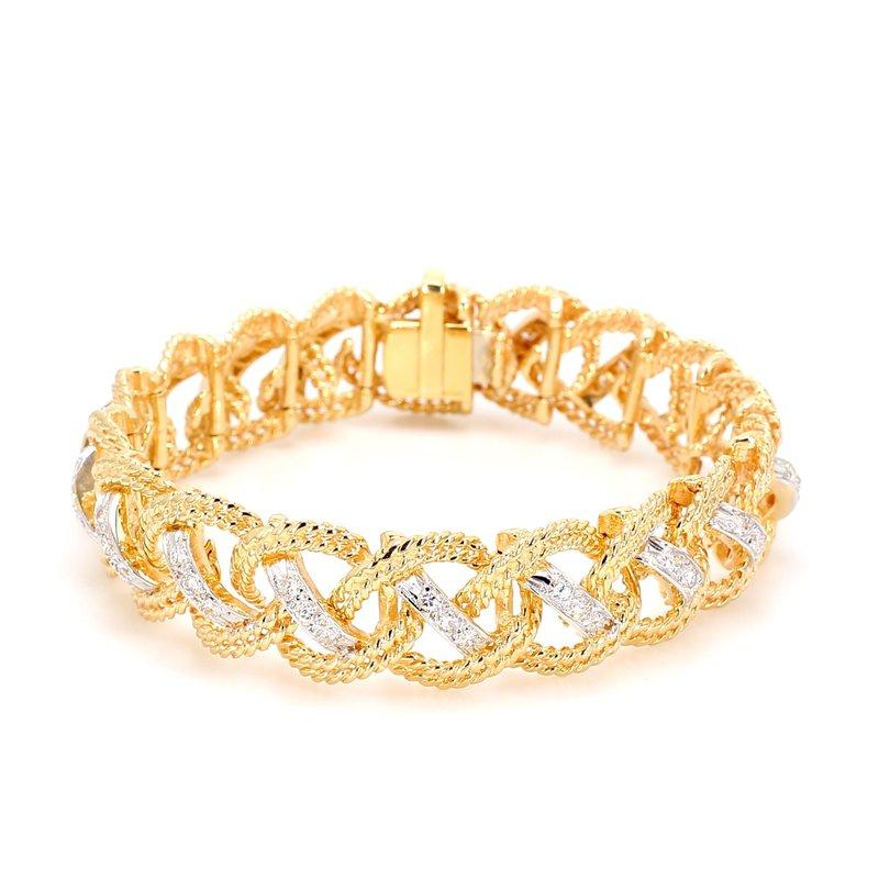 Estate Diamond Rope Bracelet