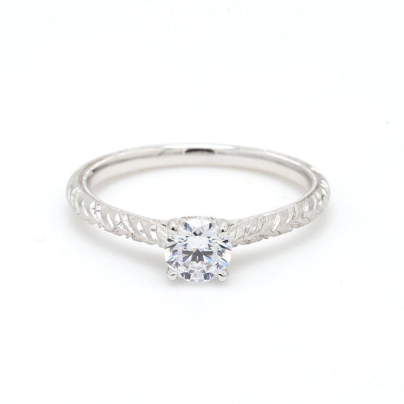 Kirk Kara Solitaire Semi Mount Engagement Ring