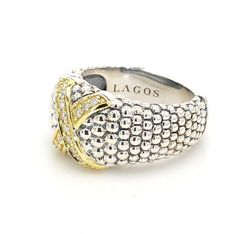 "Lagos Diamond ""X"" Ring"