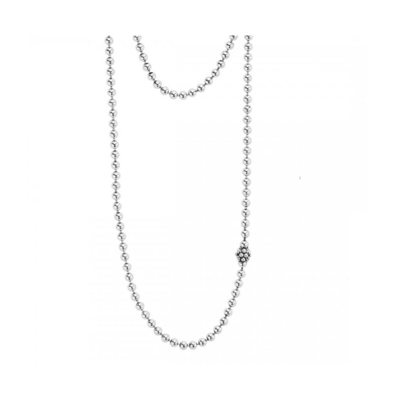 Lagos Silver Station Chain Necklace
