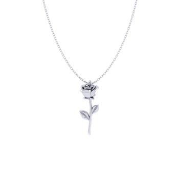 Valentine's Day Rose Pendant (Sterling Silver)