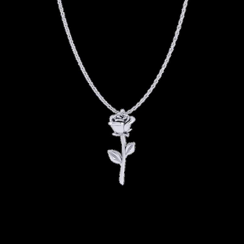 Spicer Greene Valentine's Day Rose Pendant (Sterling Silver)