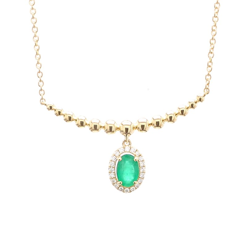 Color by Spicer Greene Emerald Fixed Pendant Necklace