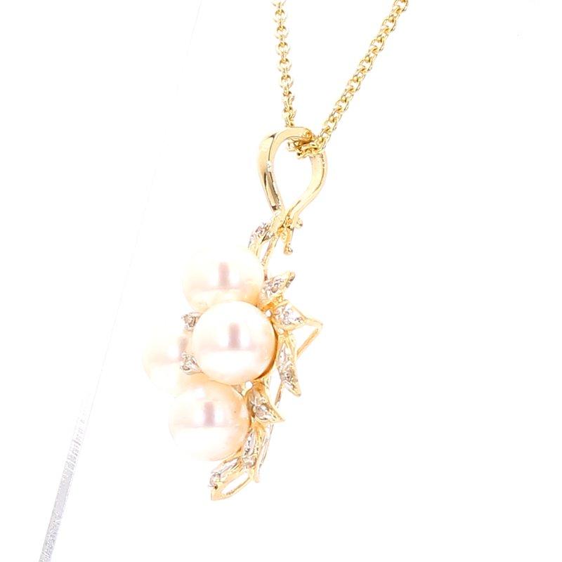 Estate Akoya Cultured Pearl Pendant