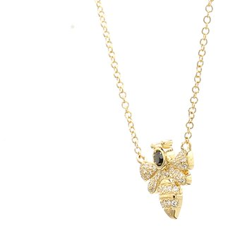 Diamond Bee Pendant
