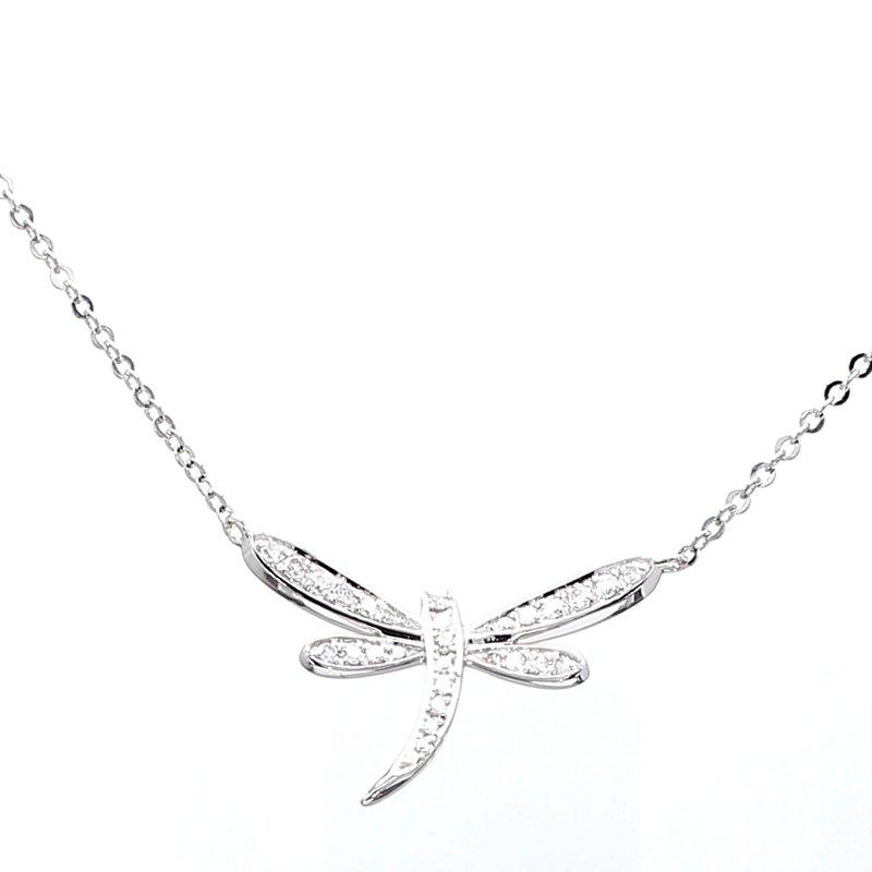 Spicer Greene Diamond Dragonfly Necklace