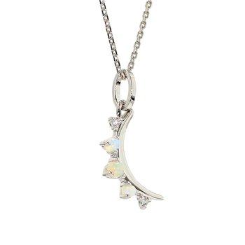 Opal Moon Pendant