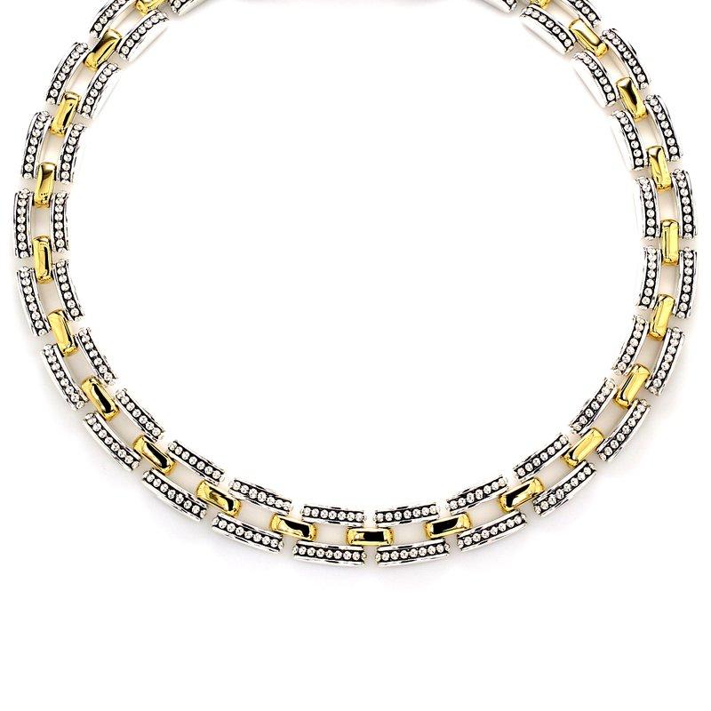 Lagos Silver & Gold Necklace