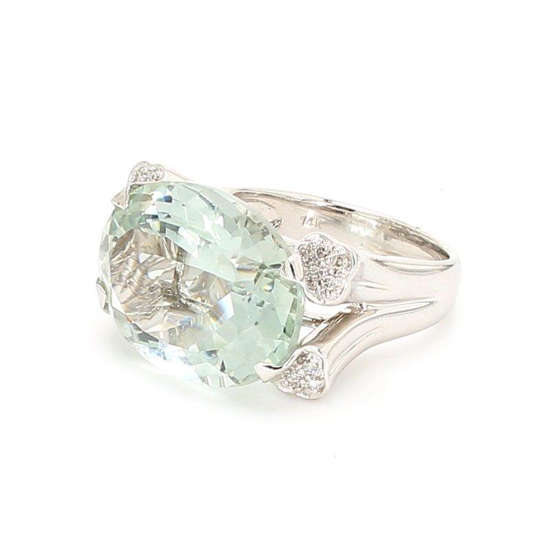 Color by Spicer Greene Prasiolite Straight Ring