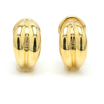 Gold Omega Earrings