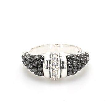Black Caviar Diamond Ring
