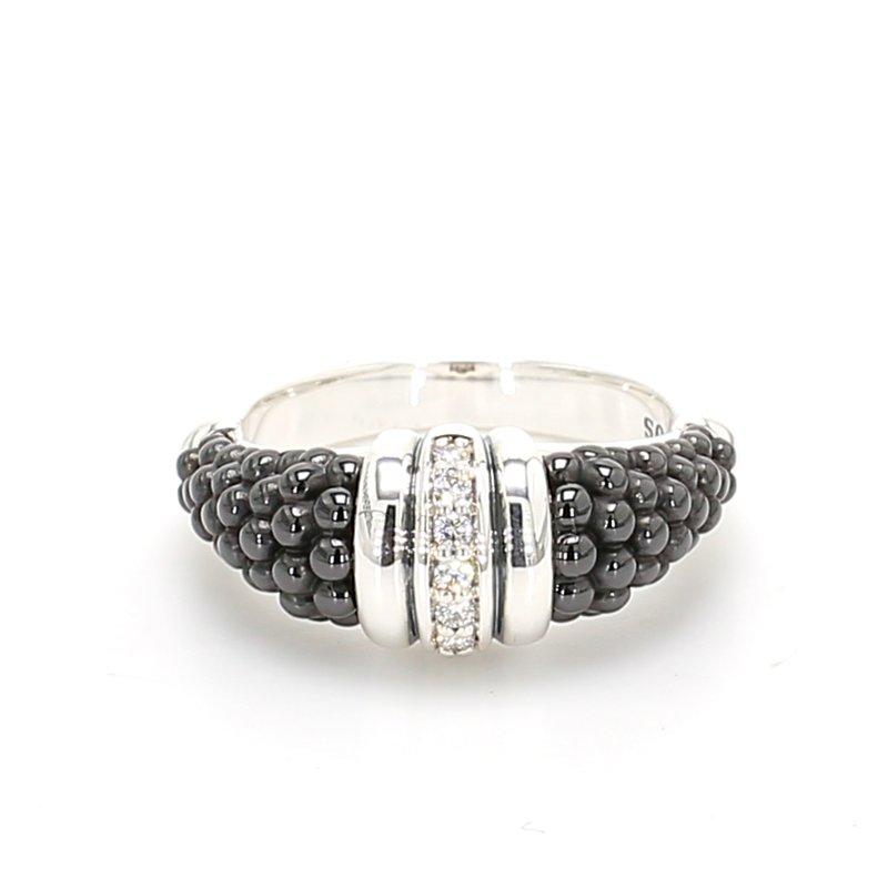 Lagos Black Caviar Diamond Ring