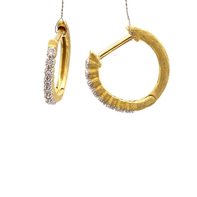 Jude Frances Diamond Hoop Earrings