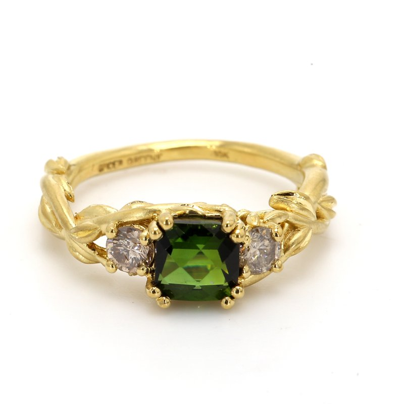 Color by Spicer Greene Tourmaline 3 Stone Ring