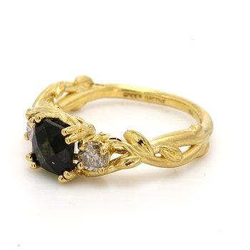 Tourmaline 3 Stone Ring