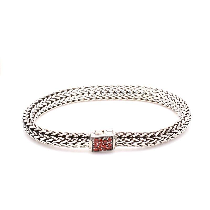 Garnet Chain Bracelet