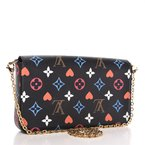 Pre-Owned Luxury Handbags Louis Vuitton Game On Felicie Chain Wallet