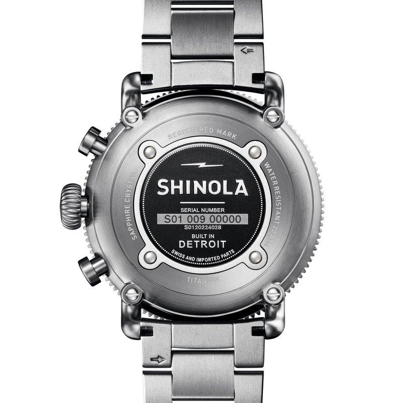 Shinola-Detroit White Hurricane Chrono 48mm