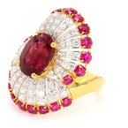 Color by Spicer Greene Tourmaline, Ruby and Diamond Ring