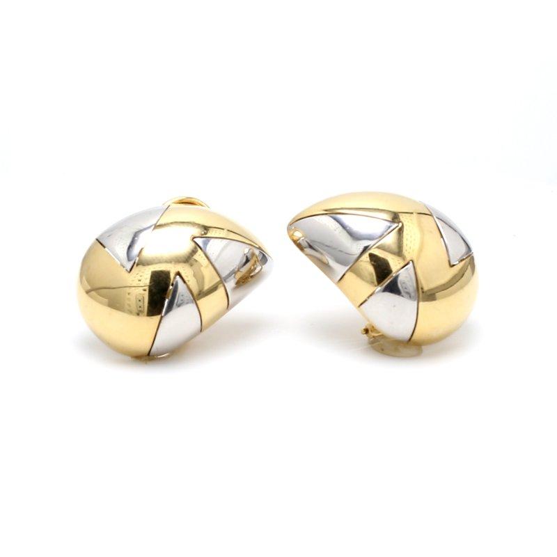 Estate Gold Clip On Earrings