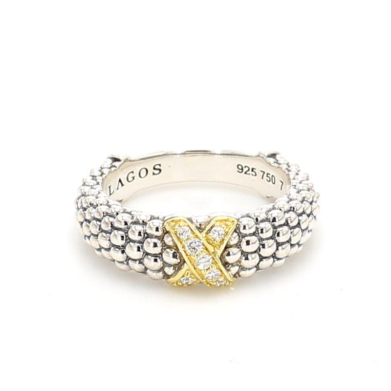 "Lagos ""X"" Diamond Ring"