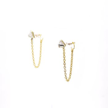 Two-Tone Convertible Earrings