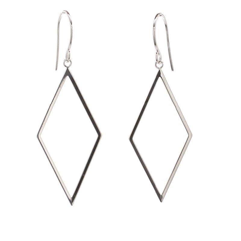 Spicer Greene White Gold Drop Earrings