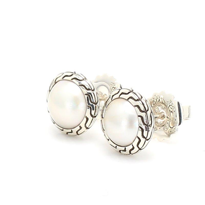 John Hardy Pearl Stud Earrings