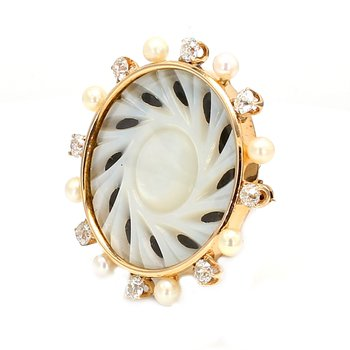 Natural Pearl Pin