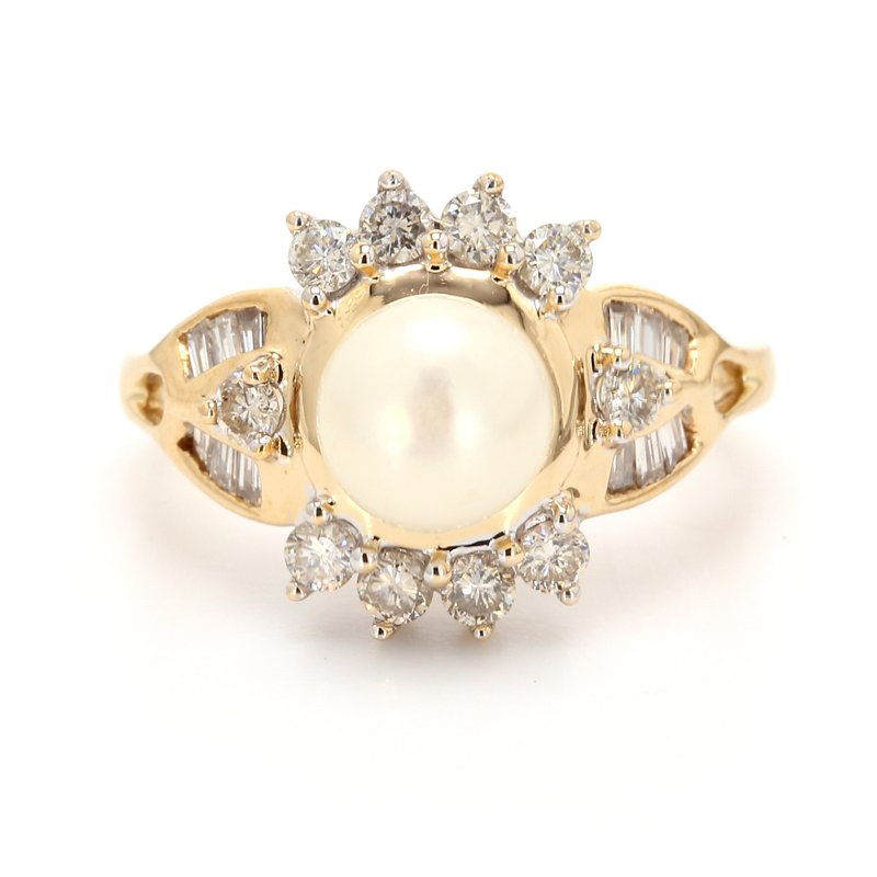 Estate Cluster Mabe Pearl Ring