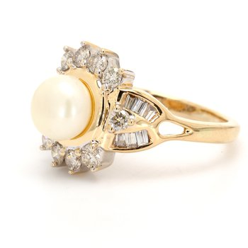Cluster Mabe Pearl Ring