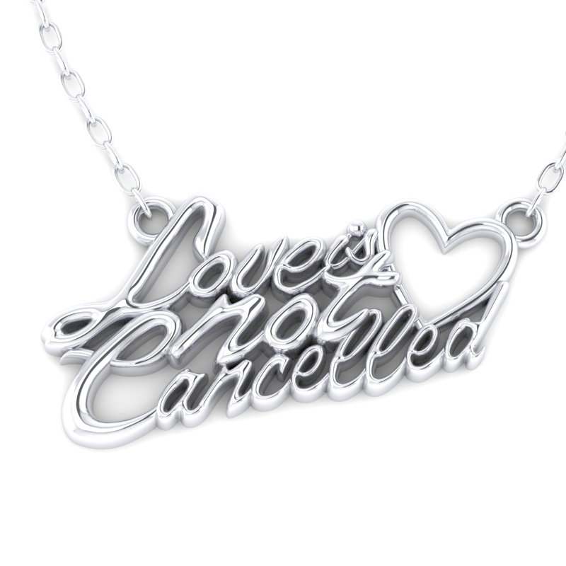 Spicer Greene Love is Not Cancelled Pendant in Silver
