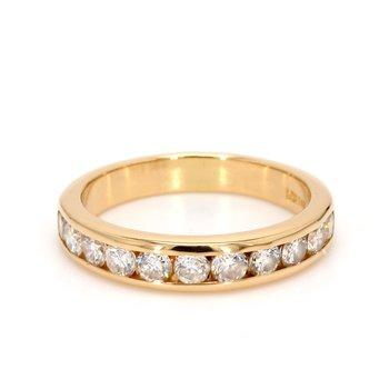 Bezel Set Diamond Wedding Band