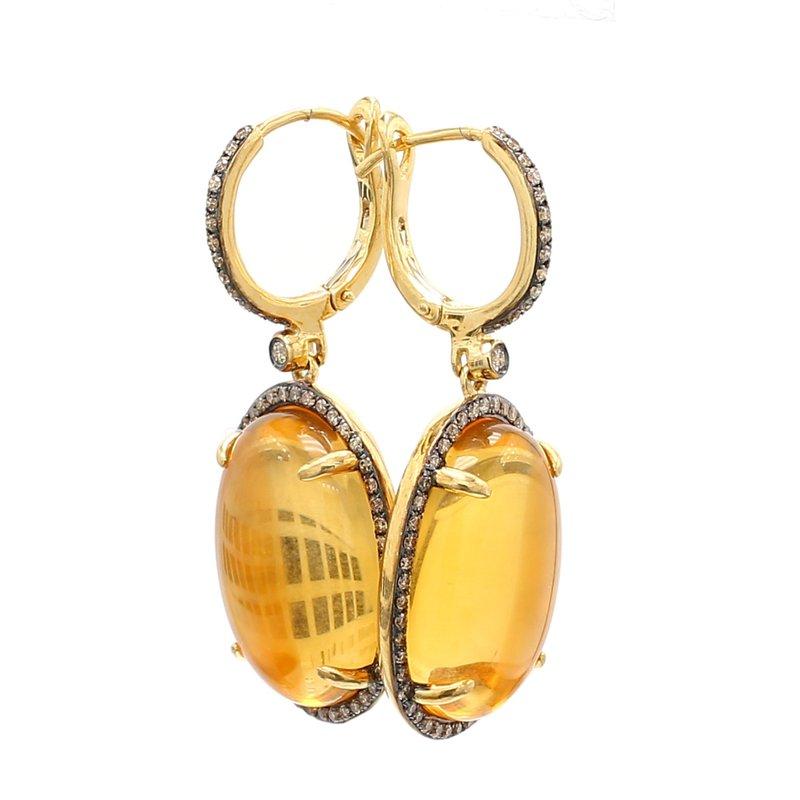 Color by Spicer Greene Citrine Dangle Earrings