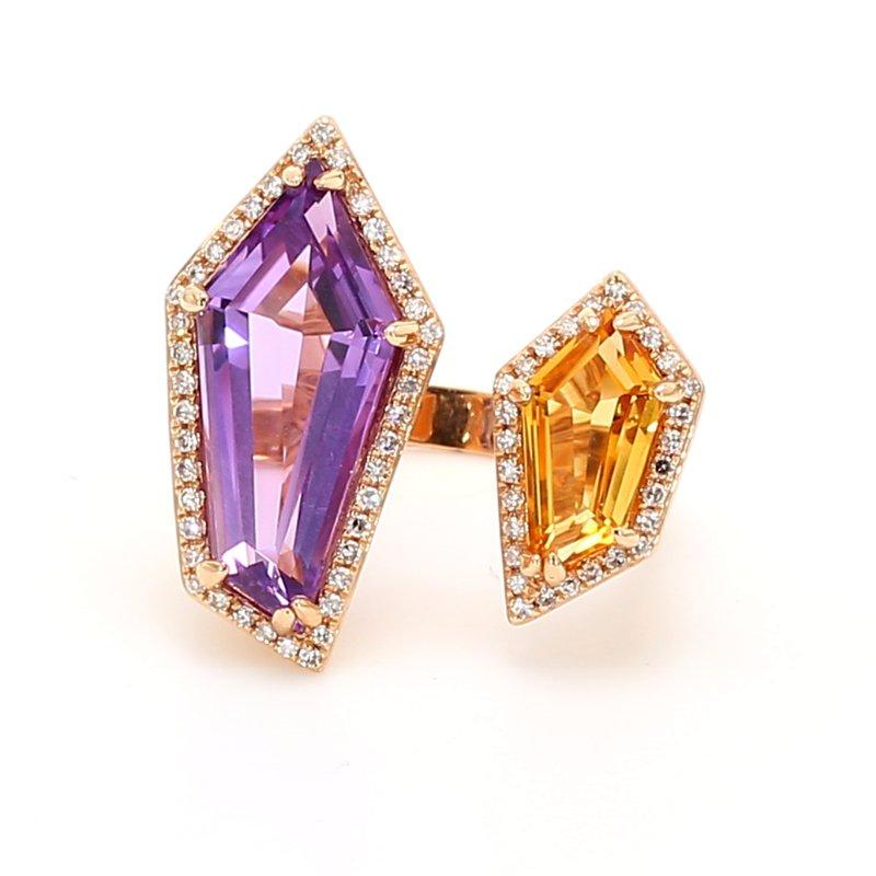 Color by Spicer Greene Modern Quartz Ring