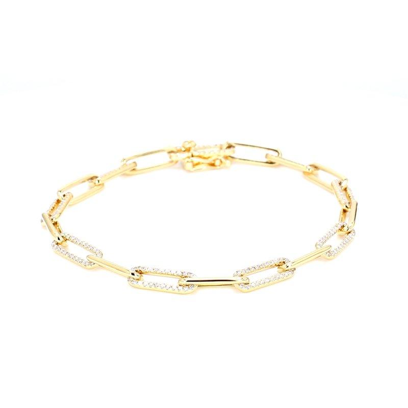 Spicer Greene Diamond Paper Clip Chain Bracelet
