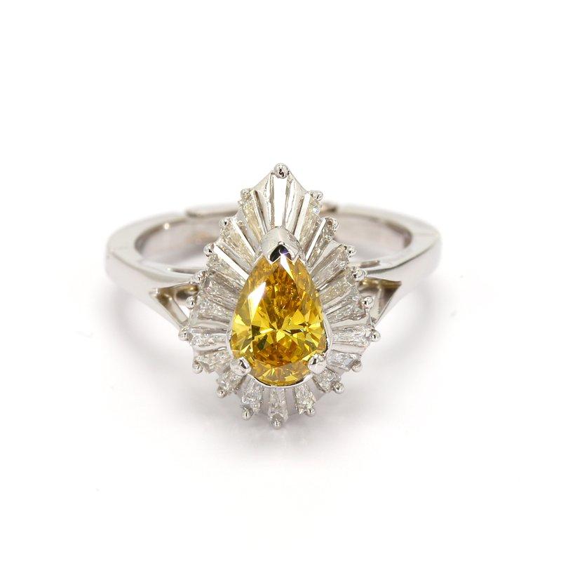 Estate Diamond Ballerina Ring
